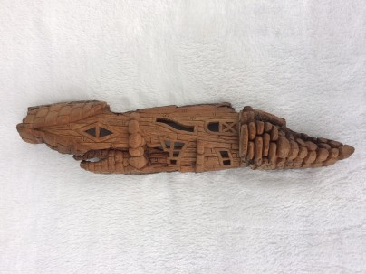 whimsical house - cotton wood bark