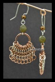 01 Bronze skirted earrings