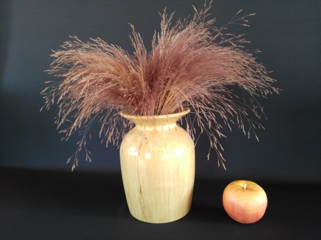 Spalted Birch Turned Vase